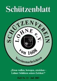 Schützenblattes seit 2003 - Schützenverein Lohne eV von 1608