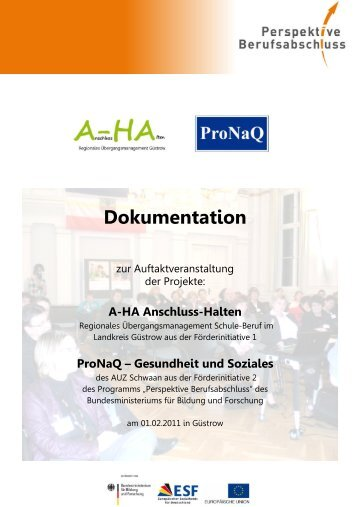 Dokumentation der Auftaktveranstaltung der Projekte - Perspektive ...