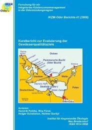 Kurzbericht zur Evaluierung der Gewässerqualitätsziele - IKZM-Oder