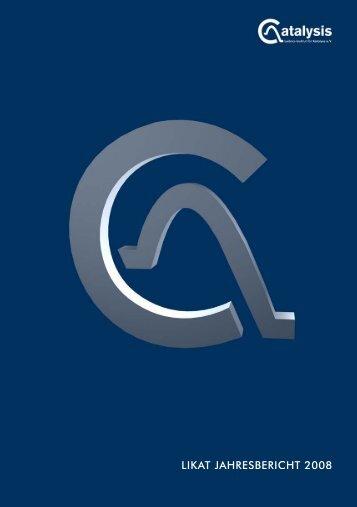 Jahresbericht 2008 - Leibniz-Institut für Katalyse