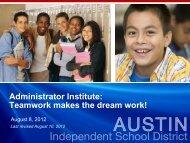 Elementary School Leaders! - Austin ISD