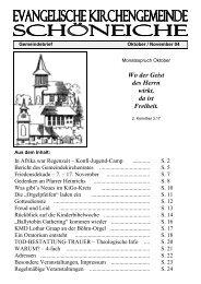 Ausgabe 05/2004 - Kirchen in Schöneiche