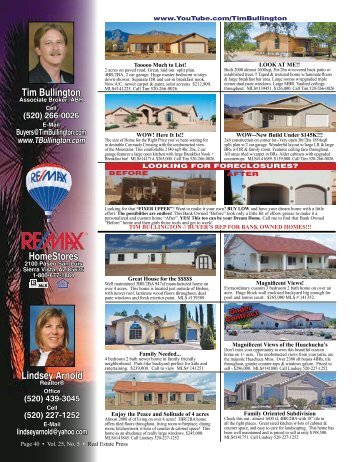 Lindsey Arnold - Real Estate Press of Cochise
