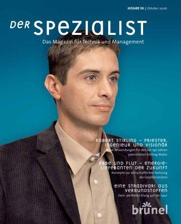 Das Magazin für Technik und Management - Brunel GmbH