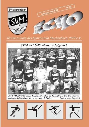 Vereinszeitung des Sportverein Mackenbach ... - SV Mackenbach