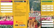 Flyer mit Programm Tierpark und Dahlienfest - Stadt Gera