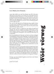 Wöör vörweg - Quickborn. Vereinigung für niederdeutsche Sprache ...
