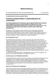 Medienmitteilung Erweiterung Spital Wattwil: Projektwettbewerb ist ...