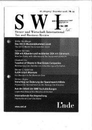 Steuer und Wirtschaft International