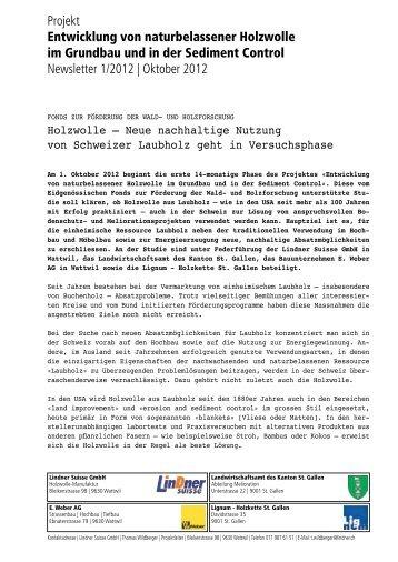 Newsletter - Holzwolle
