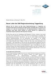 Neuer Leiter der SAK Regionalvertretung Toggenburg