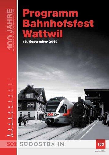 Programm Bahnhofsfest Wattwil - Lokremise Sulgen