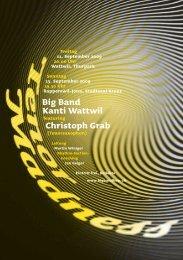 Big Band Kanti Wattwil Christoph Grab