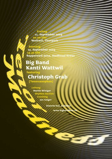 Big Band Kanti Wattwil Christoph Grab