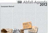 Abfall-Agenda 2012 - Gemeinde Wattwil