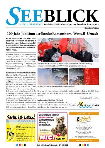 100-Jahr-Jubiläum der Strecke Romanshorn–Wattwil–Uznach
