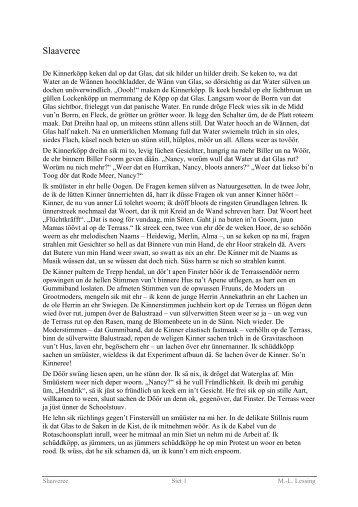Slaaveree - Vertelln.de niege nedderdüütsche Geschichten