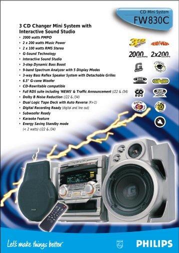 2000watts PMPO 2x200MPO - Philips