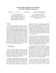 Energy-Adaptive Display System Designs for Future Mobile ... - Usenix