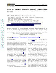 Finite size effects in perturbed boundary conformal field theories