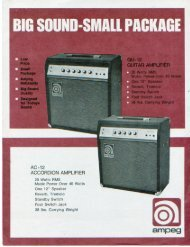 GU-12 GUITAR AMPLIFIER - The Unofficial Ampeg Page