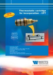 Thermostatic cartridge for incorporation – CP7 - Watts Industries