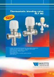 Thermostatic blending valve RLT M2 - Watts Industries