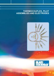 THERMOCOUPLES, PILOT ASSEMBLIES AND ... - Black Teknigas