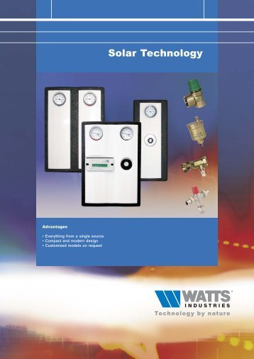 Solar Technology - Watts Industries