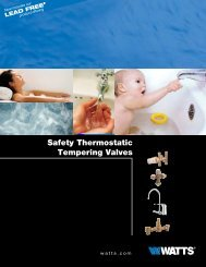 Safety Thermostatic Tempering Valves - Watts Water Technologies ...