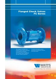 Flanged Check Valves FC Series - Watts Industries