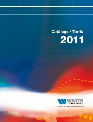 Catalogo/Tarifa 2011 - Watts Industries