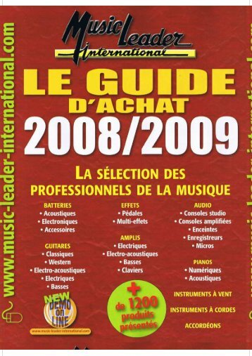 guide d'achat 2008-2009 BASSE - Free