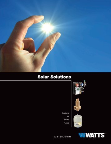 Solar Solutions - Watts Water Technologies, Inc.
