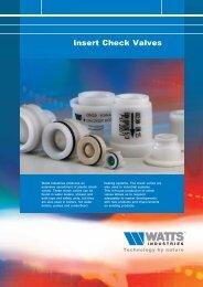 Insert Check Valves - Watts Industries