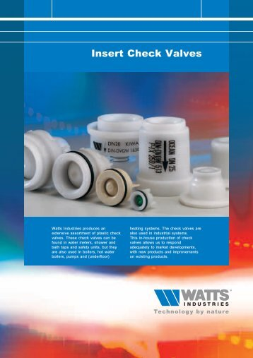 Insert Check Valves - Watts Industries