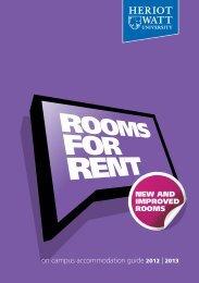 Rooms for rent - Heriot-Watt University