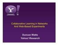 Collective Learning in Networks and Web-based Experiments
