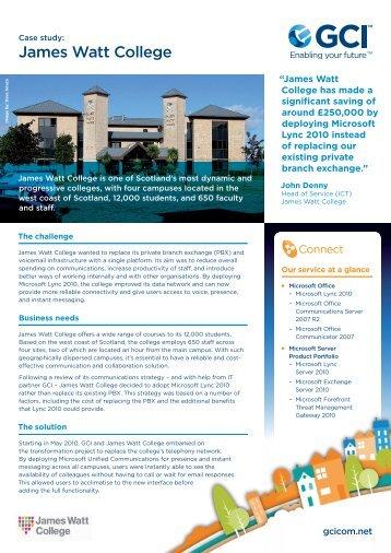James Watt College - GCI