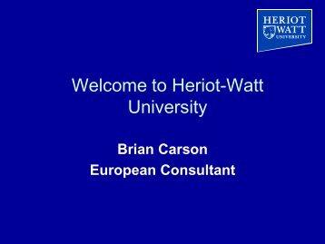 Welcome to Heriot-Watt University! - Iut
