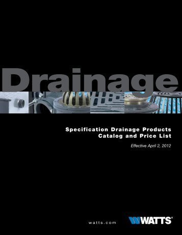 Area Drain - Watts Water Technologies, Inc.