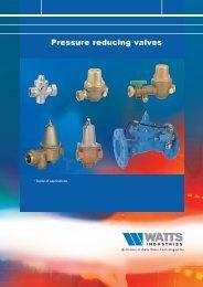 Pressure reducing valves - Watts Industries