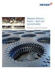 Megalas, Nitrocut, Oxycut -; Gase zum Laserschneiden