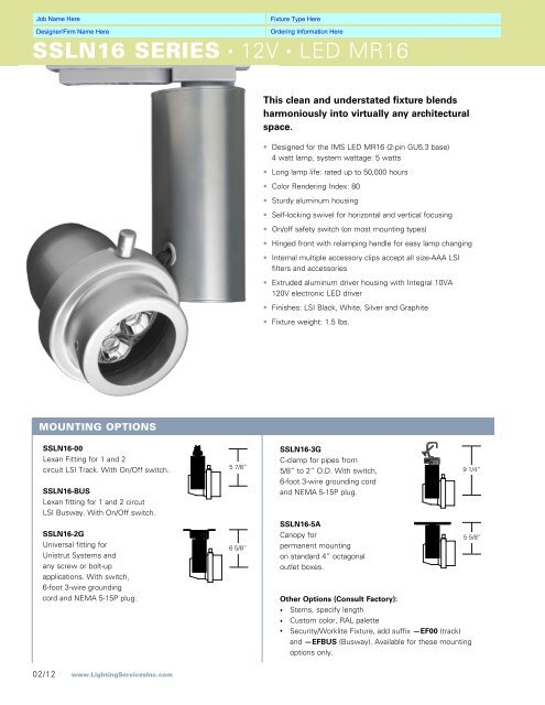 Solid State Master Qx For Online Lighting Services Inc