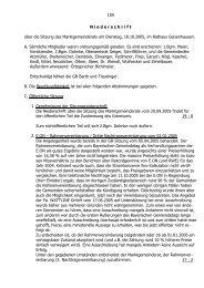 159 N iederschrift über die Sitzung des Marktgemeinderats am ...