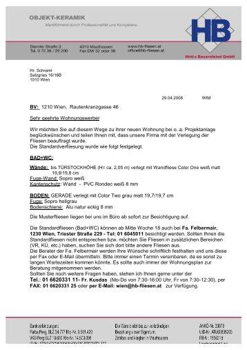 INFO-Schreiben - Hirtl & Bauernfeind GmbH