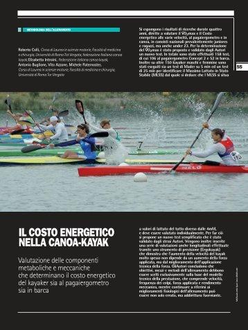costo energetico nel kayak sds n80 1 parte