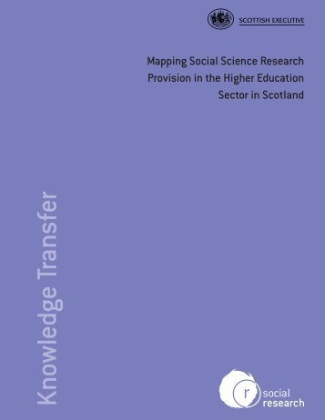 mapping social science research provision in the higher education ...