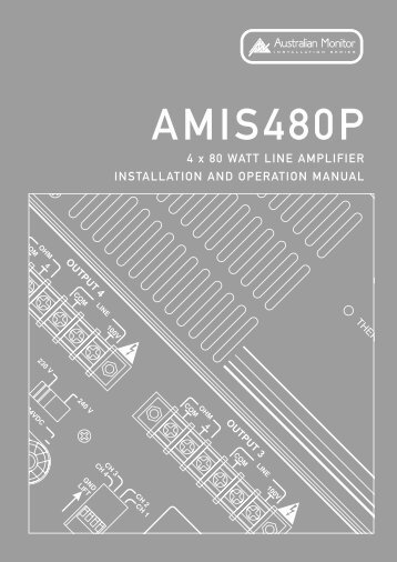 AMIS480P Manual - Australian Monitor