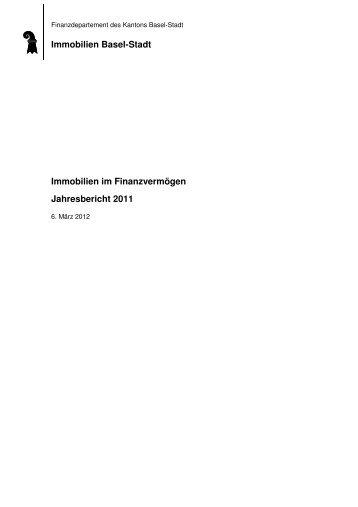 Jahresbericht FV 2011 - Immobilien Basel-Stadt